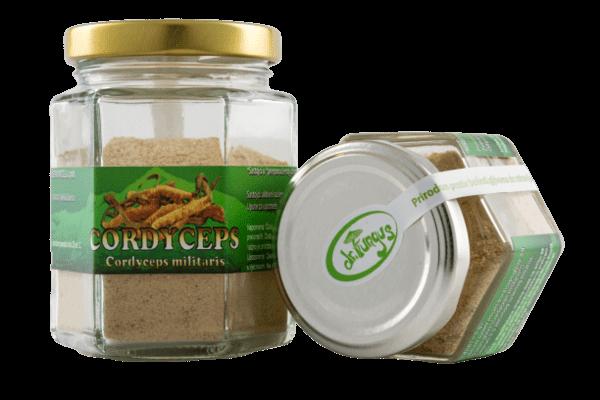 Ljekovite gljive: Cordyceps, aktivni sušeni micelij u pakiranju/bočici